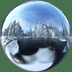 Icescape Glass Ground Skybox