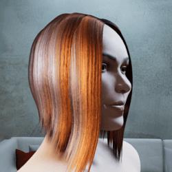 Hair Myriam semi shiny tintable