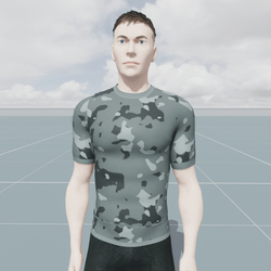 Military Snow Camouflage T-Shirt