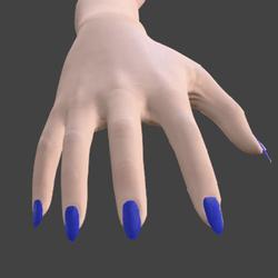 Nails- Blue - Long