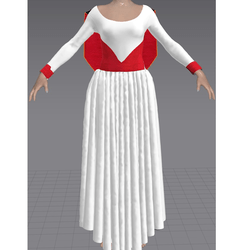 Dress AND Cape White and Red (TM)