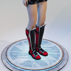 Red and Black Ninja Boots w/ Emissive