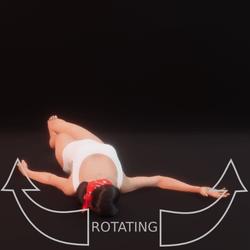 modelpose liegend 10 rotating