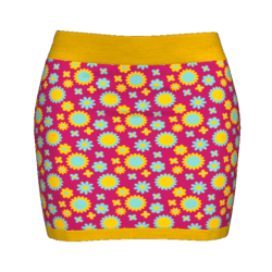 Woman Simple Skirt - Psychedelic