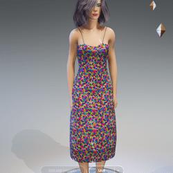 Female - Spring-Summer Floral Dress AV2.0