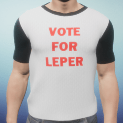 Vote for Leper for Mayor 2018! Male t-shirt
