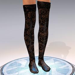 Transparent Stockings Bleck
