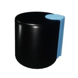 Blue-accented Knob