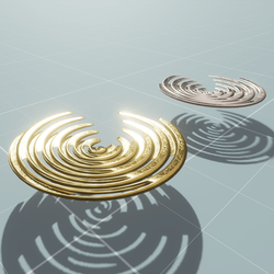 METAL HOVERING SIT-ANIMATED (GOLD&SILVER)