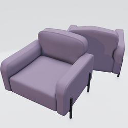 Hero Lounge Chair Purple