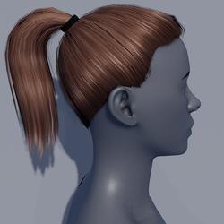 Hair - Pony Tail - Brown Hazelnut