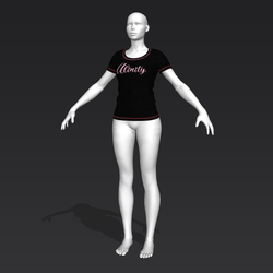 Alinity T-Shirt - Black - Female