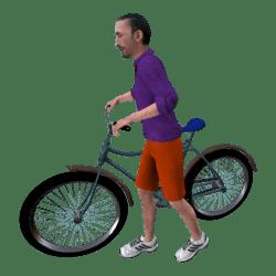 Rafa mit Fahrrad