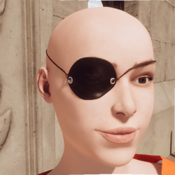 Pirate Jolly Roger Eye Patch - Female