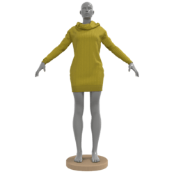 Oversized Wool Turtleneck Mustard