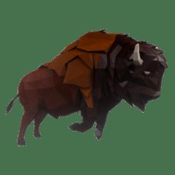 Charging Bison