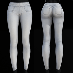 Jegging Jeans - White Denim