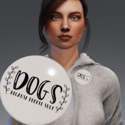 Flair - Button accessory - Dogs because people suck