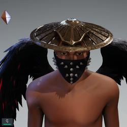 Round Metallic Hat