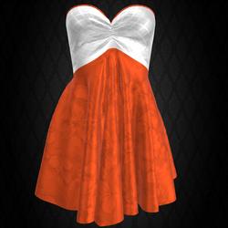 Strapless Silk Dress #1