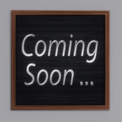 Coming Soon Sign- Wooden Brown