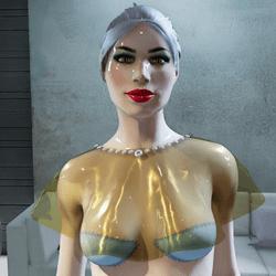Chiffon Top for Gold & Diamonds Dress (Short Version)