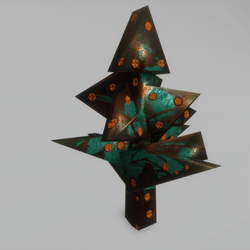 cubism bush -  Triangle copper & patina