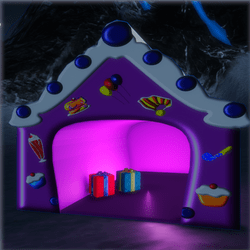 Purple Candy House with Presents