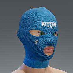 ski mask - blue kitten - female