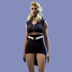 Zenia Purple Glitter