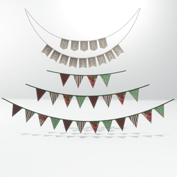 Christmas fabric garlands