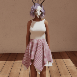 VDay dress wht/pnk