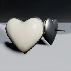 Pearl Heart Earrings F