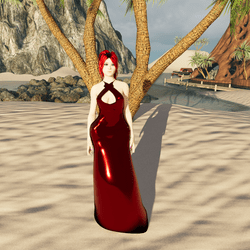 Laced Ruby Gown