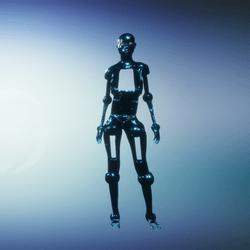 Blue droid