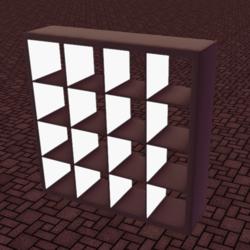 Shelf 4x4 Emissive & Tintable.