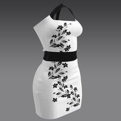 Summer Dress White with Flower