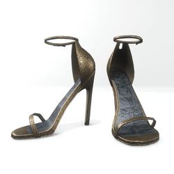 Ankle strap sandals  for Nicci - glitter khaki