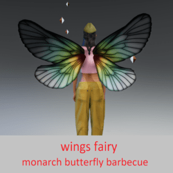wings fairy monarch butterfly barbecue