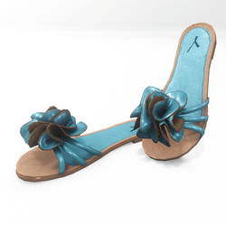Flower sandals for alina - light blue