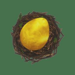 BIRD NEST + GOLDEN EGG