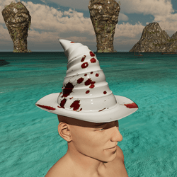 Blood Splatter Wizard Hat