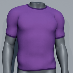 Men Plain TeeShirt - Purple
