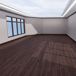 Skybox - Gray and Dark Brown - The Little Room With Ceiling Lamp