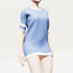 Blue Baggy Shirt