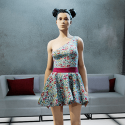 CASSOU mini dress turquoise