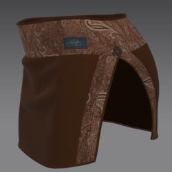 Skirt enri brown