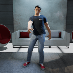 Stroppy Stand Gesture (Male)