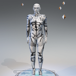 Male Android With Heel position