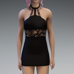 Black Lace Partydress